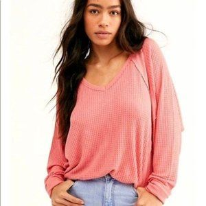 Free People Santa Clara Thermal Top Prairie Rose M